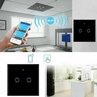 Interrupteur mural intelligent pour maison connectee  compatible avec lapplication Alexa  Google Remote  voix telephone  EU