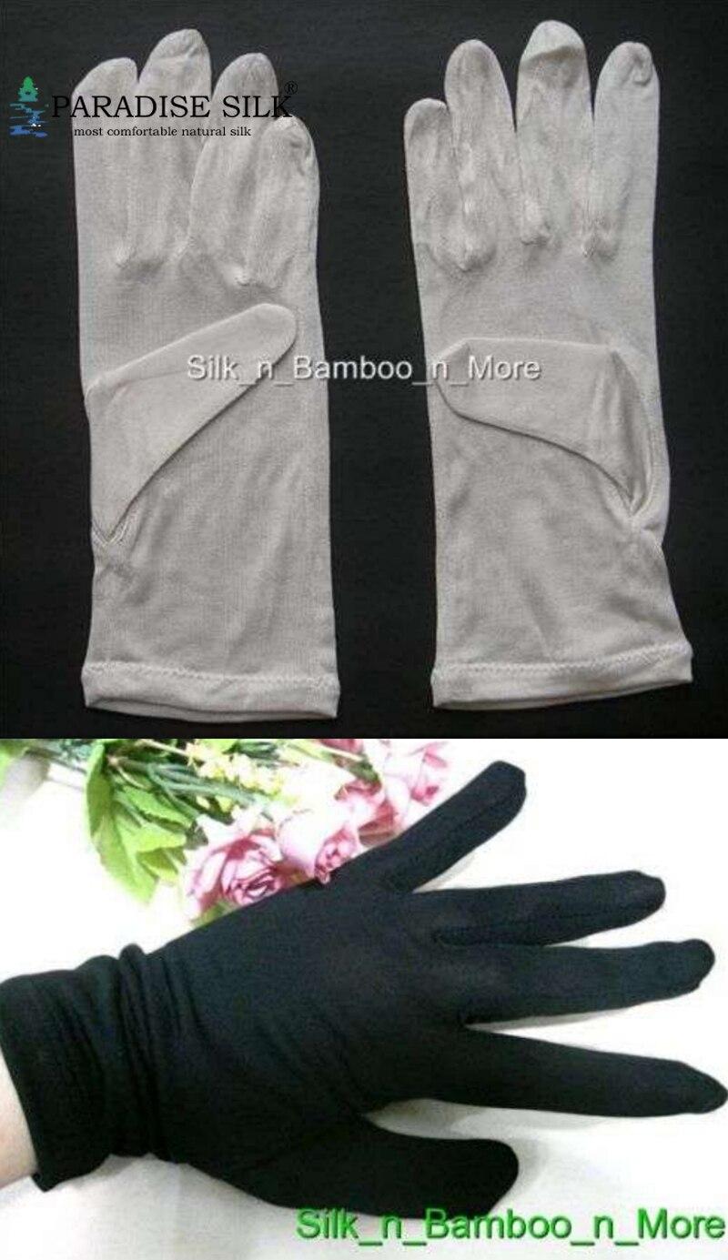 Guantes de seda 2 pares 100% guantes de forro de seda pura Guantes Térmicos interiores de esquí de una talla