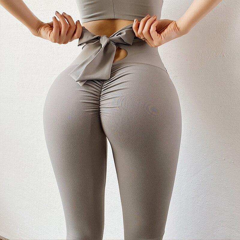 Normov sólido leggings femininas casual arco cintura alta push up tornozelo comprimento poliéster workout leggings de fitness feminino