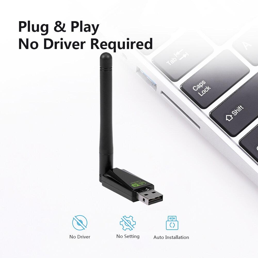 USB 無線 Lan ドライバ不要ネットワーク LAN カードプラグ & 回転可能なアンテナ windows xp/ vista/Linux