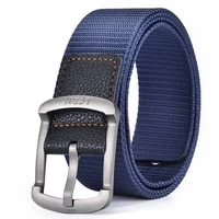 canvas belt mens and womens youth student jeans with versatile korean style black pin buckle pants belt