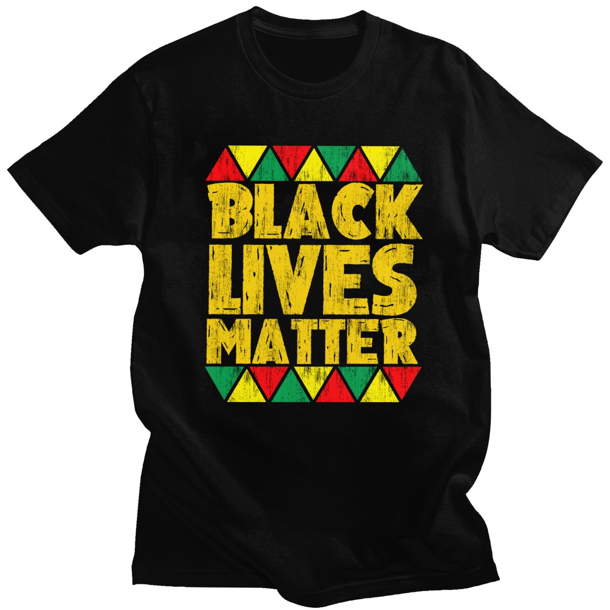 Camiseta clásica Vintage de Black Lives Matter de manga corta para hombre, Camiseta de algodón con cuello redondo, camiseta de ocio de orgullo africano americano BLM