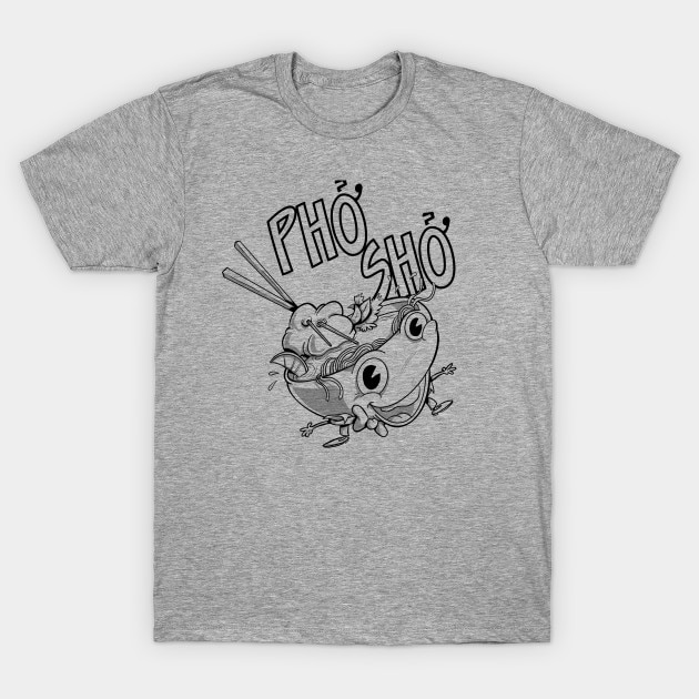 Camiseta para hombre Pho Sho Cartoon Pho vietnamita Soup Bowl BW camiseta mujer camiseta