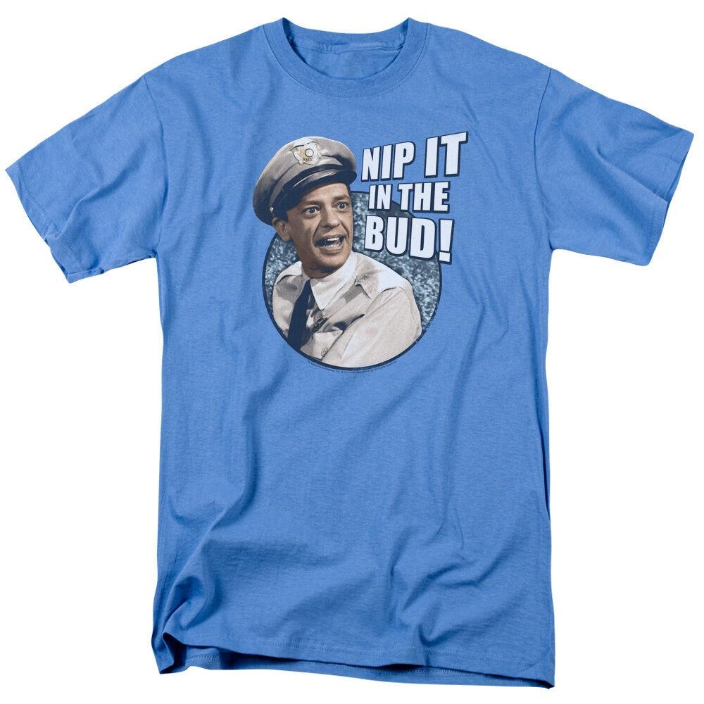 Andy Griffith montre Barney Fife dans lœuf! T-Shirt adulte toutes les tailles Slogans T-Shirt personnalisé