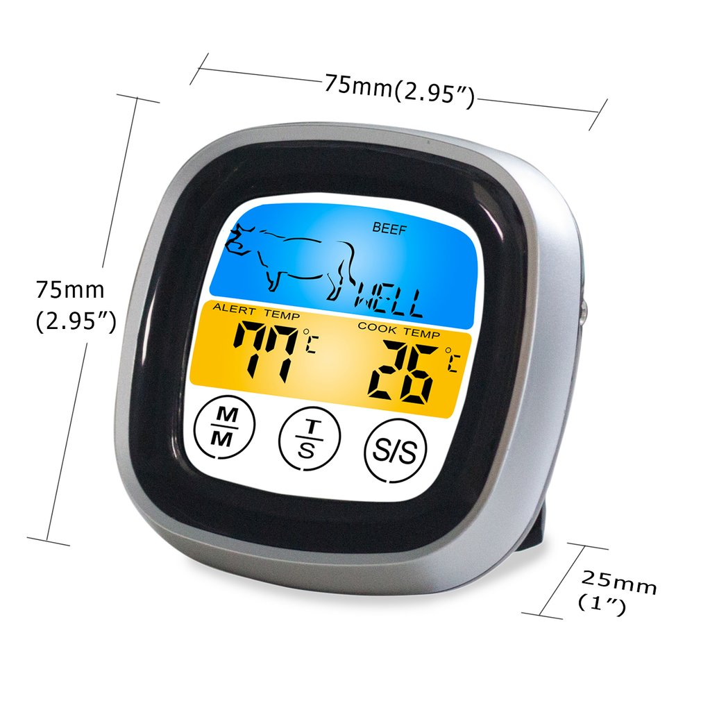 Food Cooking Bluetooth Wireless BBQ Thermometer With Six Probes and Timer For Oven Meat Grill Free App Control Dropshipping enlarge