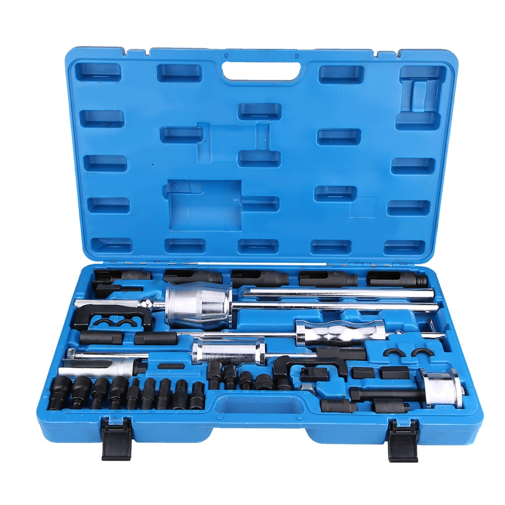 40Pcs Common Rail Injector Extractor Diesel Puller Set Injection Tool Kit Drill Bit Set