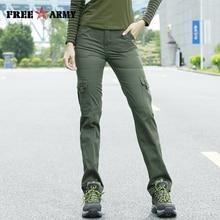 Freearmy marque femmes armée vert Cargo pantalon nouveau coton femme décontracté grande taille militaire pantalon pantalon femmes pantalons vêtements