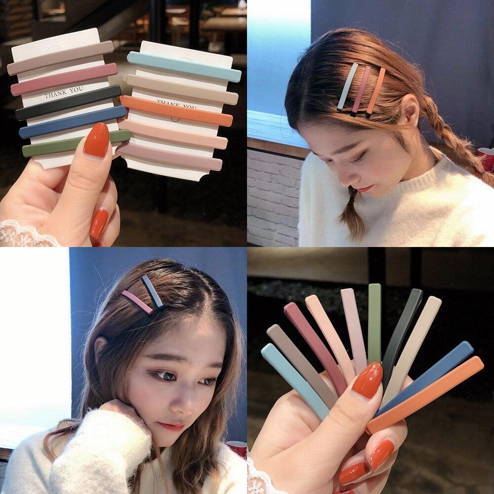 Mattewomen Bb clips10 шт/набор, однотонные повязки на голову, заколки для волос