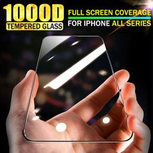 1000D Tempered Glass For iPhone 12 Pro Max 11 Screen Protector 11Pro Max 12Pro Max High Quality 8 7