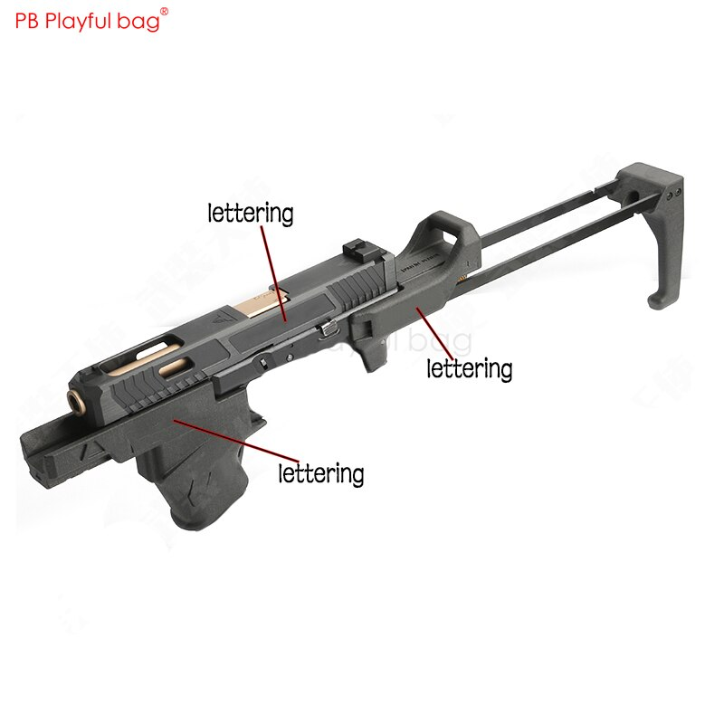 PB PlayfuFun toys tactical gear flex kit water gun refit P1 upgrade material slip sleeve nylon rear grip magazine accessory KD14