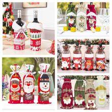 Noël bouteille de vin couverture joyeux noël décorations pour la maison 2020 noël ornement nouvel an 2021 noël Navidad Natal cadeaux