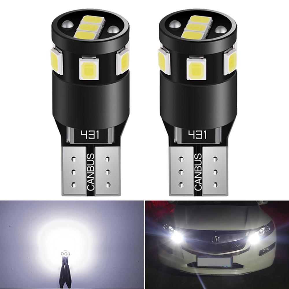 2x W5W T10 Car LED Bulbs Canbus Side Marker Park Lights Interior Lamp For Honda Civic Accord Crv Fit Jazz City Hrv Cr-v Spoiler