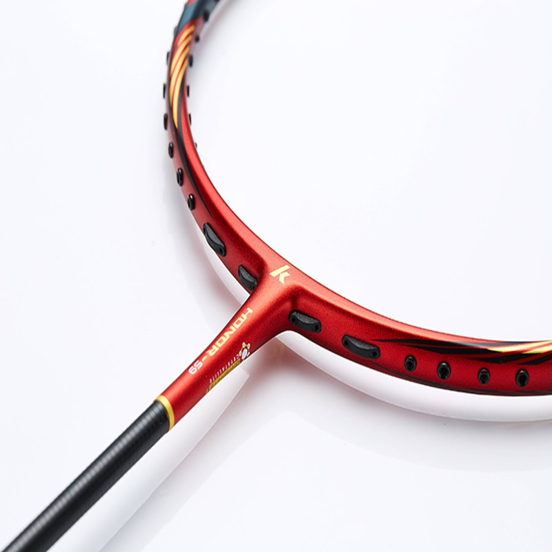 2021 Kawasaki Badminton Racket Honor S9  Speed Type T Join Power Carbon Fiber Racquet For Intermediate Players With Free Gift