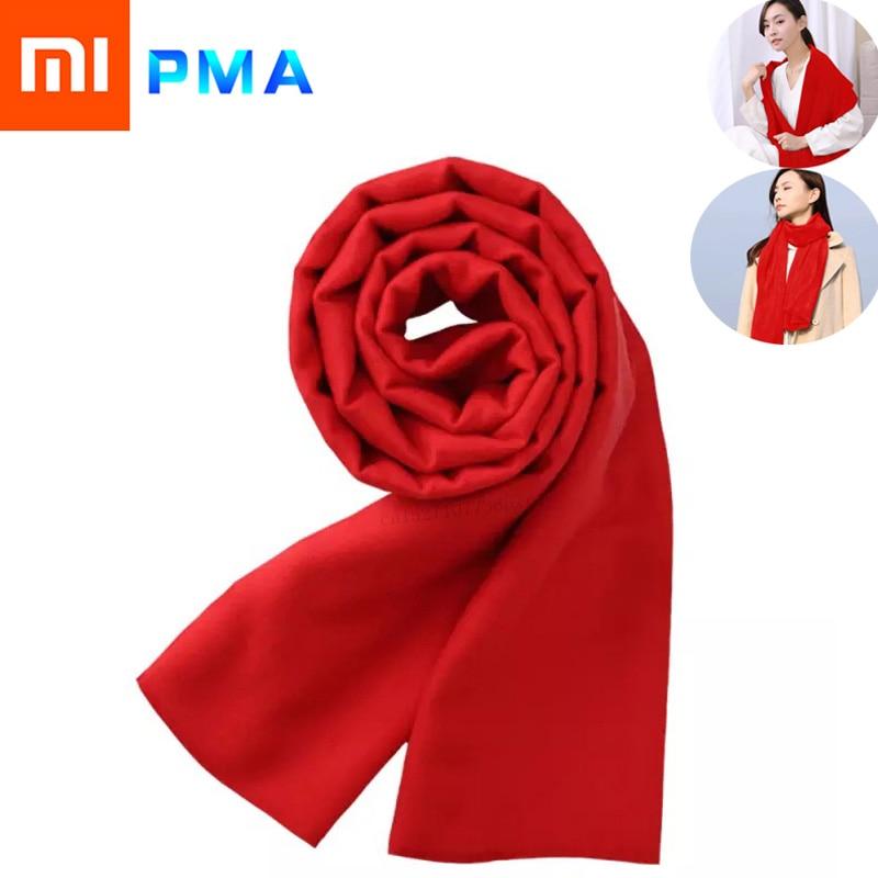 Youpin pma grafeno aquecimento cachecol 3 engrenagem ajustável fibra tecido interface lavável suave quente unisex vermelho natal presente