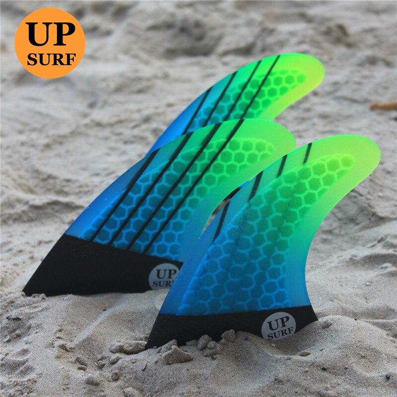 Upsurf Logo quillas FCS G5 tabla de surf aleta panal Fibreglass aletas Verde Negro FCS Quilhas Fins