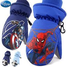 Original Disney kinder Ski Handschuhe Winter Jungen Wasserdichte Kalt Warm Spiderman Mädchen Kleine Jungen Spielen Schnee