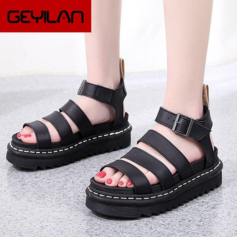 Zapatos de piel auténtica para mujer, sandalias de verano para exteriores, deportivas,...