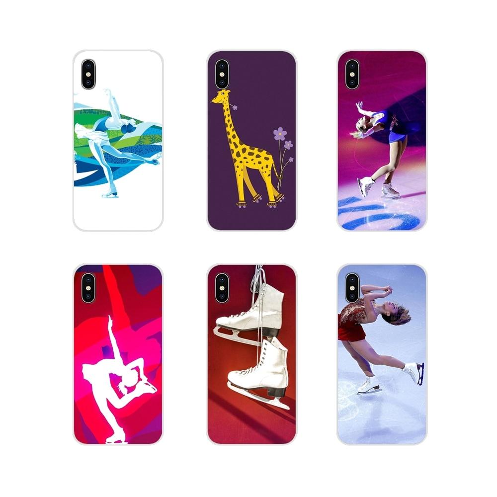 TPU transparente Shell casos para Apple iPhone X XR XS 11Pro MAX 4S 5S 5C SE 6 6S 7 8 más ipod touch 5 6 Go patinaje sobre hielo con amigo