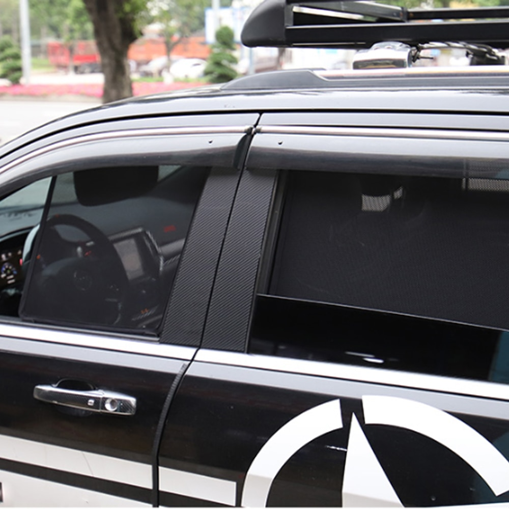 Apto para Jeep Grand Cherokee 2014 ~ 2018, protector solar para ventana de coche, visera de cortina, malla de malla, parasol, hebilla estable