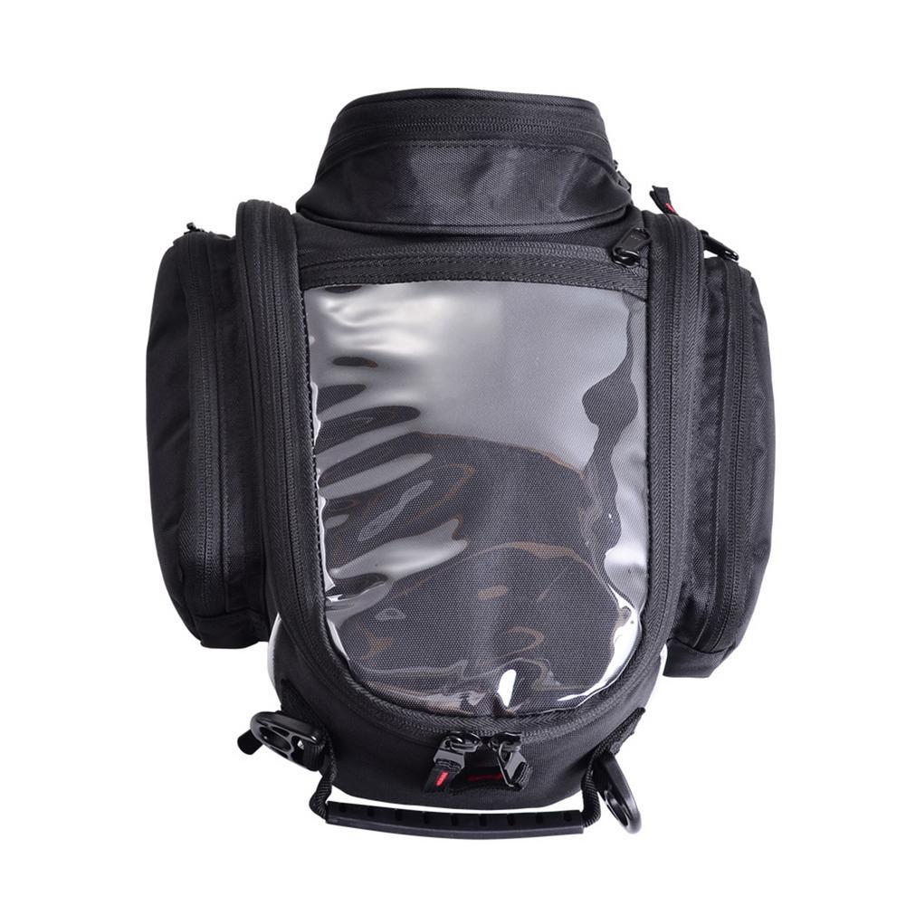 حقيبة مغناطيسية للدراجات النارية ، حقيبة كتف مع نظام ملاحة للهاتف الخلوي ، خزان زيت دراجة نارية بأشرطة ثابتة ، حقيبة خصر غير رسمية للخارج