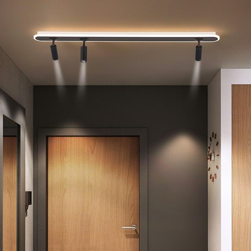 الاكريليك الأبيض قطاع Led الثريات مع الأضواء جديد الحديثة مصباح السقف لغرفة المعيشة المطبخ الممر إضاءة داخلية