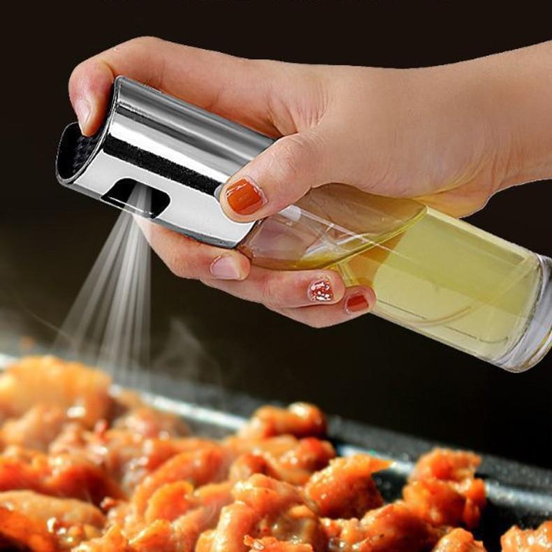 Spray garrafa de óleo pulverizador pote de óleo churrasco ferramenta de cozinha pode pot panelas ferramenta abs olive bomba pf90910