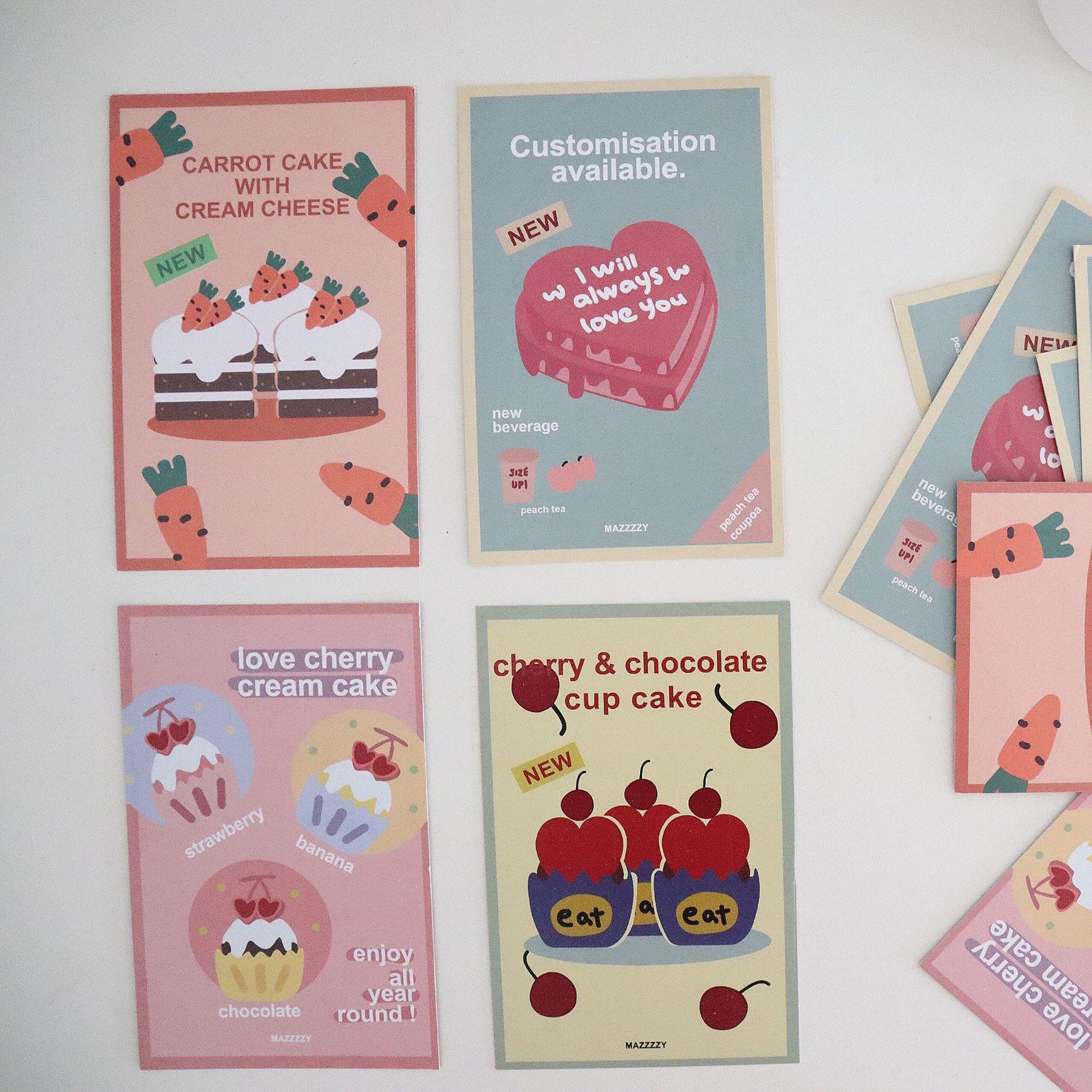 Креативная открытка торт на день рождения поздравительная открытка редис вишня любовная открытка декоративная открытка для комнаты Насте...