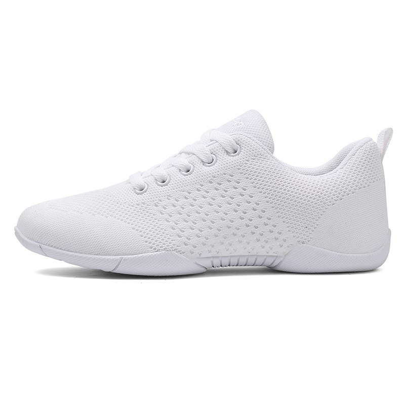 White Aerobic Shoes Children's Adult Fitness Shoes Gymnastics Sports Dance Shoes for Women Cheerlead
