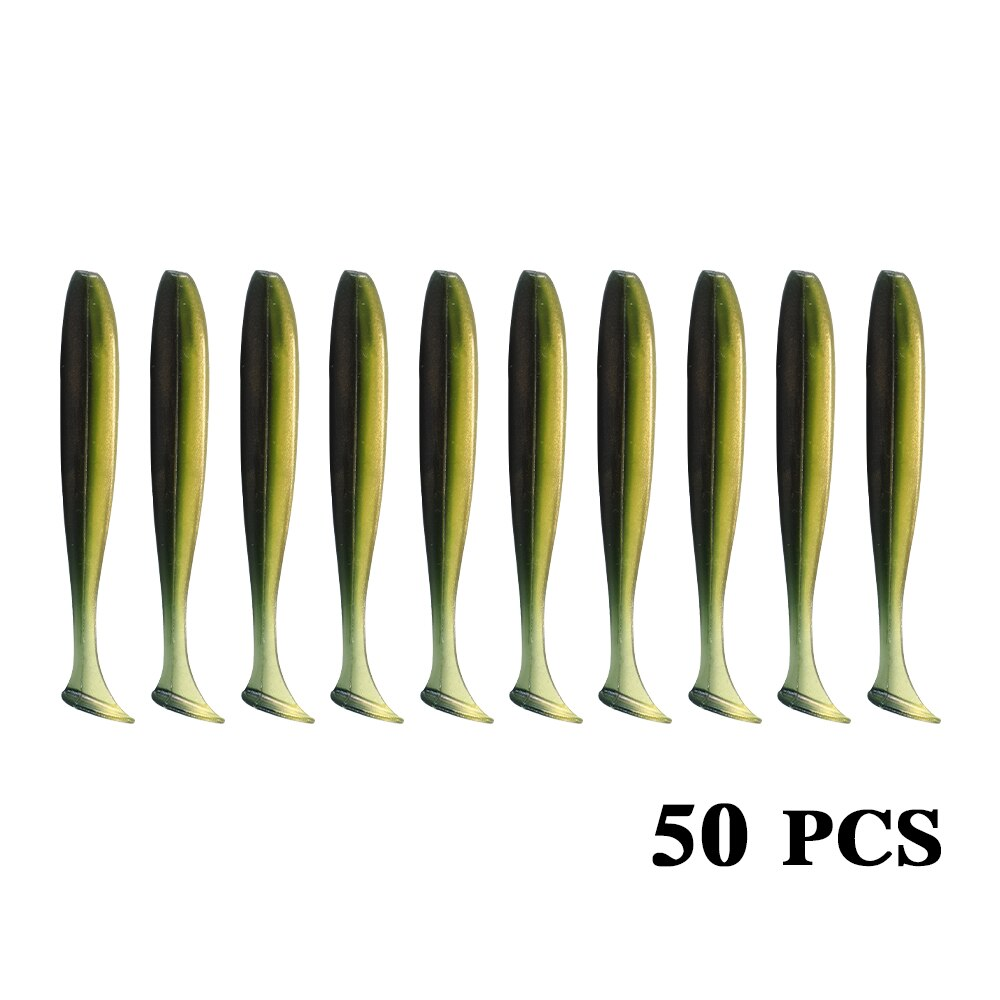 50 Pcs/Lot 7cm 10cm Soft Lure Shad Wobbler Silicone Bait Sea Worm Swimbait Streamer Silicone Lure spinnerbait  accessories enlarge