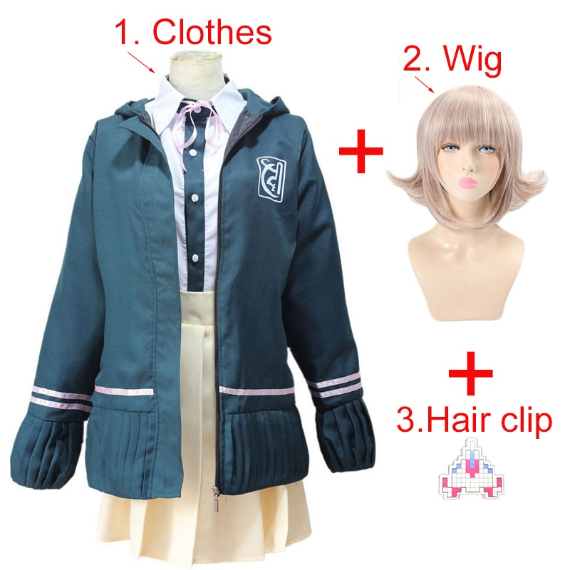 High School Students Uniform Anime Danganronpa Nanami ChiaKi Cosplay Costume Long-sleeved Jacket Sho