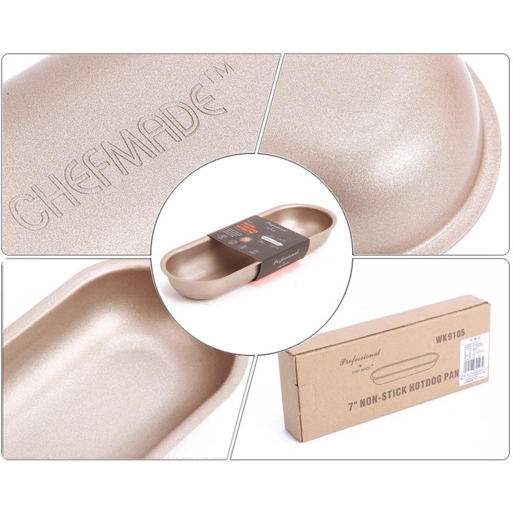 Hot Dog Pan Hotdog Pan hornear molde antiadherente hornear 7 pulgadas Oval