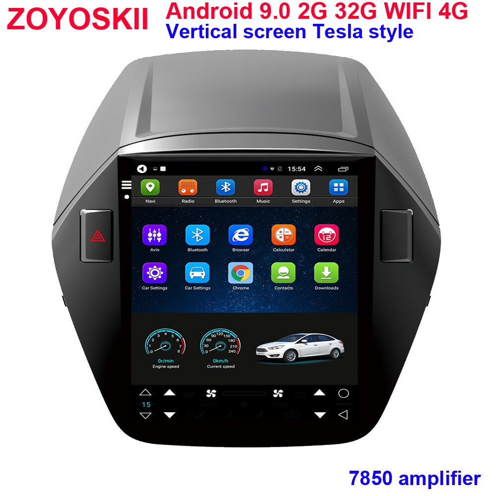Android 10,4 zoll vertikale IPS bildschirm auto gps multimedia radio bluetooth navigation player für Hyundai Tucson IX35 2010-2015