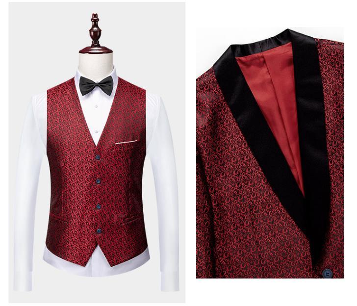 Casual Print 3 Piece Dress Suit