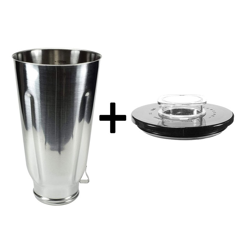 Blender Parts 1 Stainless 1.25L Jar 1 Cup Lid Round Lid Replacement Parts For Oster 0041 2725 2726 4