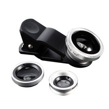 Durable Universal 3 In 1 Mobile Phone Lenses Fish Eye Smartphone Wide Angle Macro Camera Celular Len