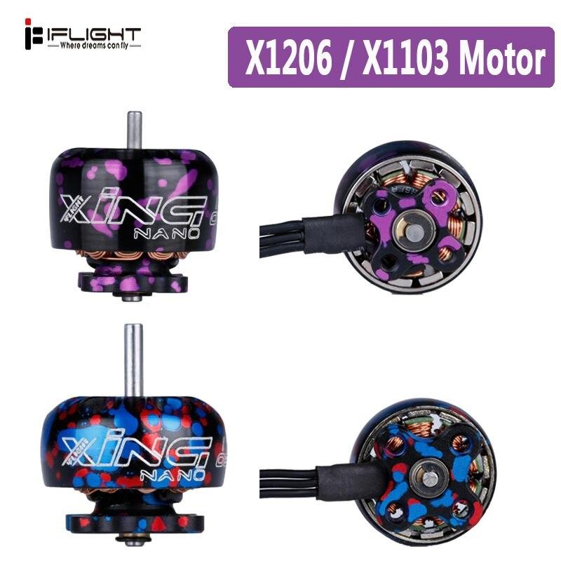 1 piezas iFlight XING X1103 1103/X1206 1206 8000KV/10000KV 4500KV/6500KV 2-3 S/ 2-4S CW hilo de Motor sin escobillas para RC Drone FPV Racing