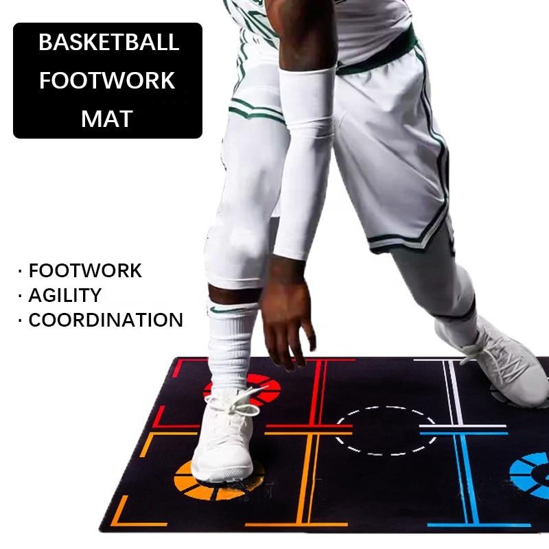 كرة سلة للمحترفين التدريب حصيرة عدم الانزلاق القدم ممارسة العمل حصيرة المراوغة الكرة التحكم كرة السلة القدم حصيرة