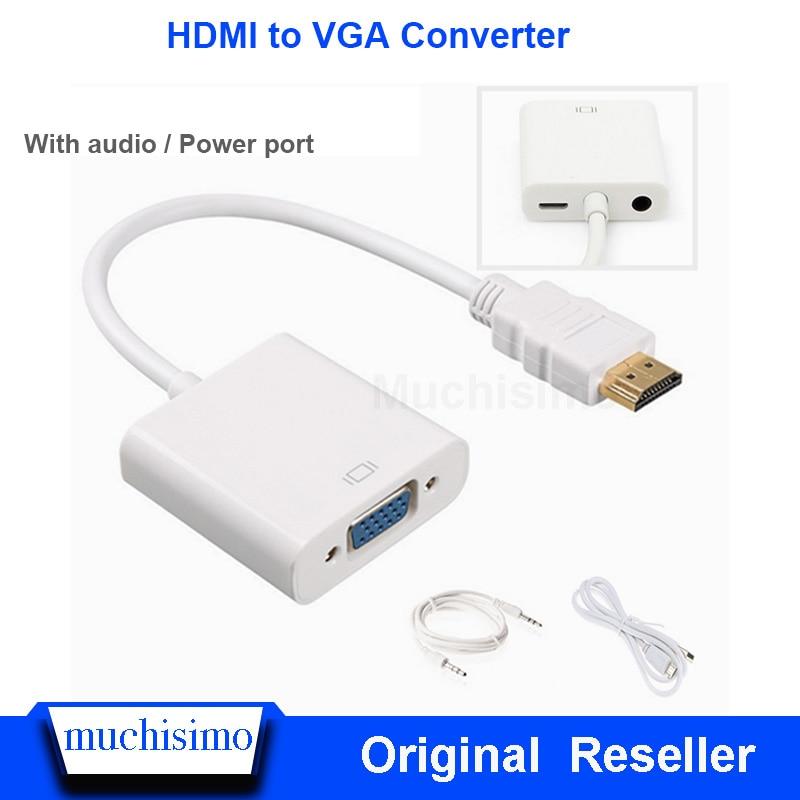 Convertidor de Raspberry Pi HDMI a VGA con puerto de audio/potencia para placa de desarrollo de ordenador portátil Raspberry Pi TV