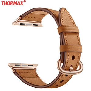 Slim waist Shape band For Apple Watch 38mm 40mm 42mm 44mm Leather loop bracelet Strap iWatch band Series 5/4/3/2/1  watchband