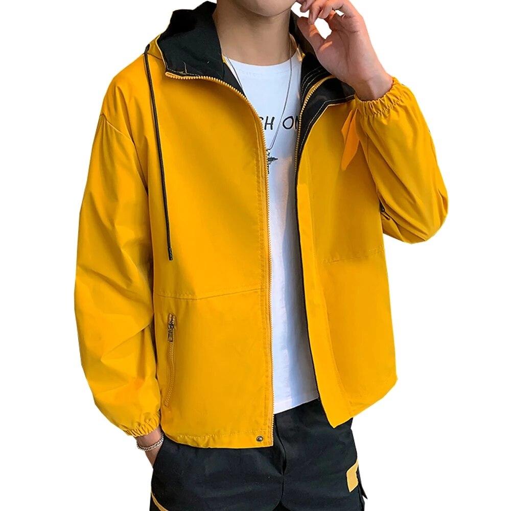 Новинка, мужские куртки, модная ветровка в стиле хип-хоп, повседневные мужские куртки-карго с капюшоном, бомберы и пальто, верхняя одежда, ул...