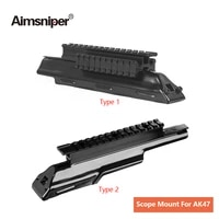 tactical tri rail mount for ak47 mak90 integral rail receiver top cover scope mount with picatinny weaver huntingscope rail base