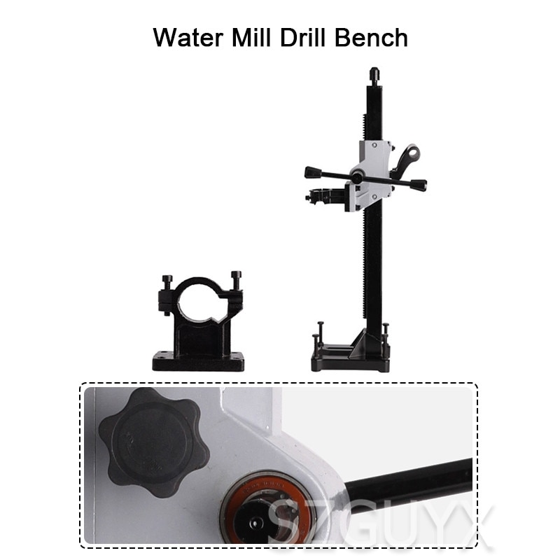 Soporte de fijación de plataforma agua taladro de escritorio de doble uso banco de perforación barra superior portátil agua de diamantes plataforma agua soporte de fijación