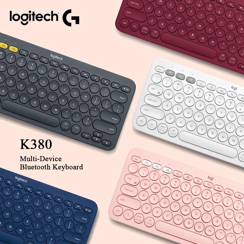 Teclado inalámbrico Bluetooth multidispositivo Logitech K380 multicolor para ordenador portátil PC Tablet escritorio Windows MacOS Android IOS Chrome