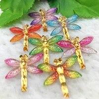27mm31mm 8pcs flatback dragonfly shaped decoration tool diy resin for making handmade crafts