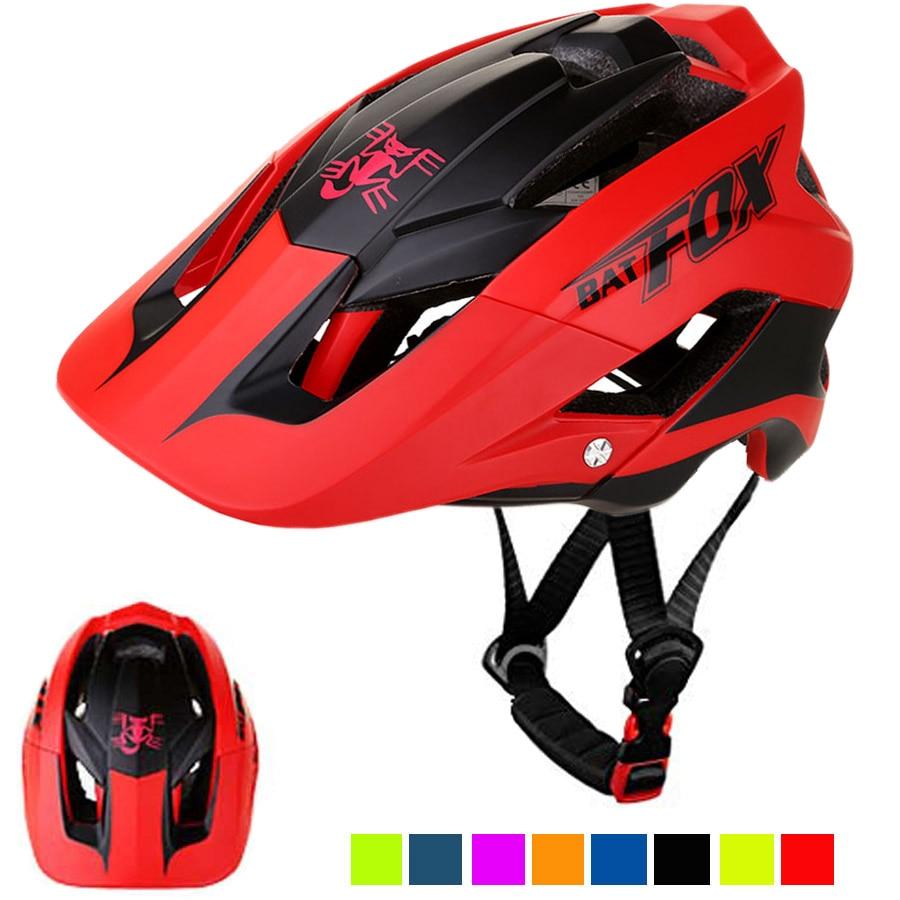 Batfox men capacete de bicicleta casco ciclismo integralmente moldado capacete de bicicleta ultraleve estrada montanha mtb capacete 56-62 cm