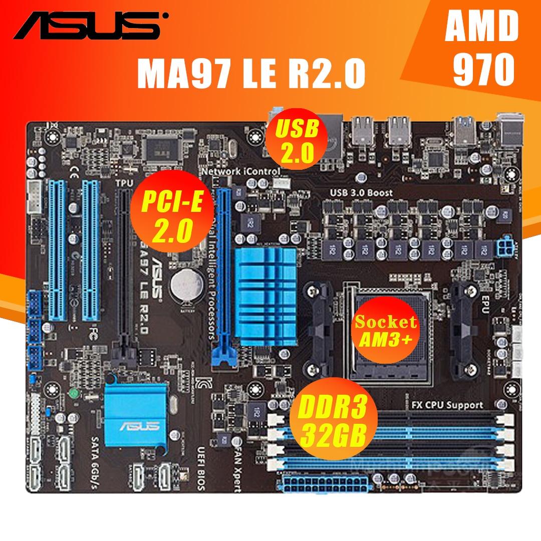 Hembra AM3 + Asus M5A97 LE R2.0 Placa base DDR3 32GB SATA...