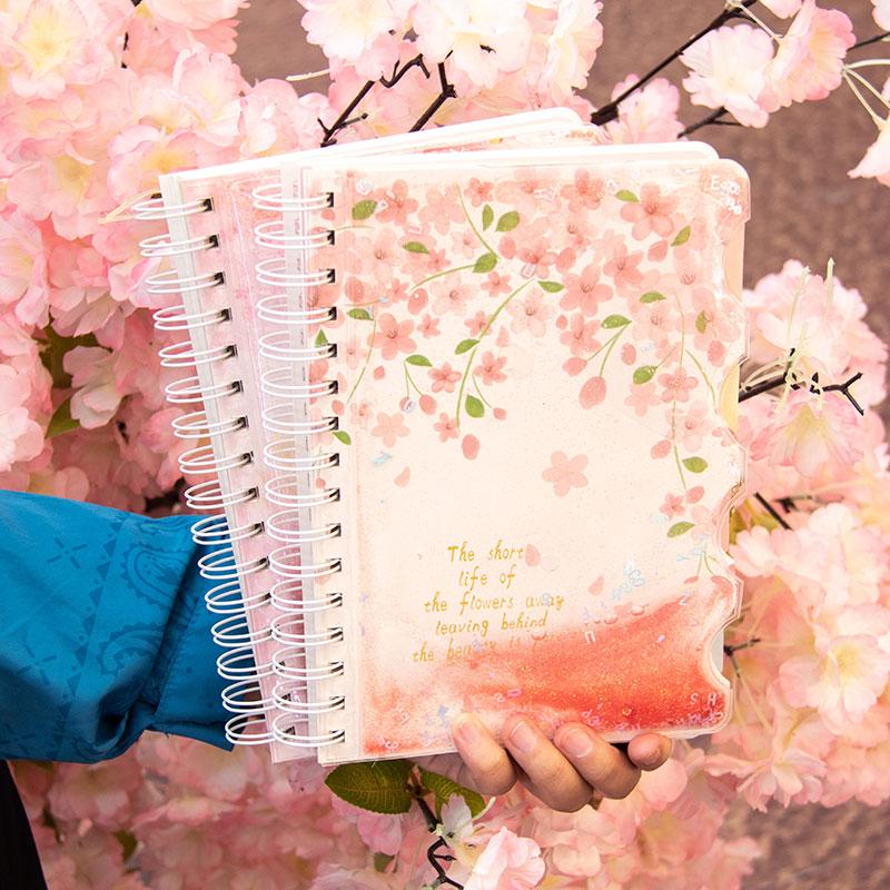 2019 novo criativo bonito kawaii coréia escola grils espiral bobina capa dura assunto cópia livro composição notebooks papelaria a5