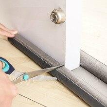 Tira de sellado inferior Flexible para puerta, 2 uds., reducción de ruido y a prueba de polvo para ventanas, tira meteorológica Hom