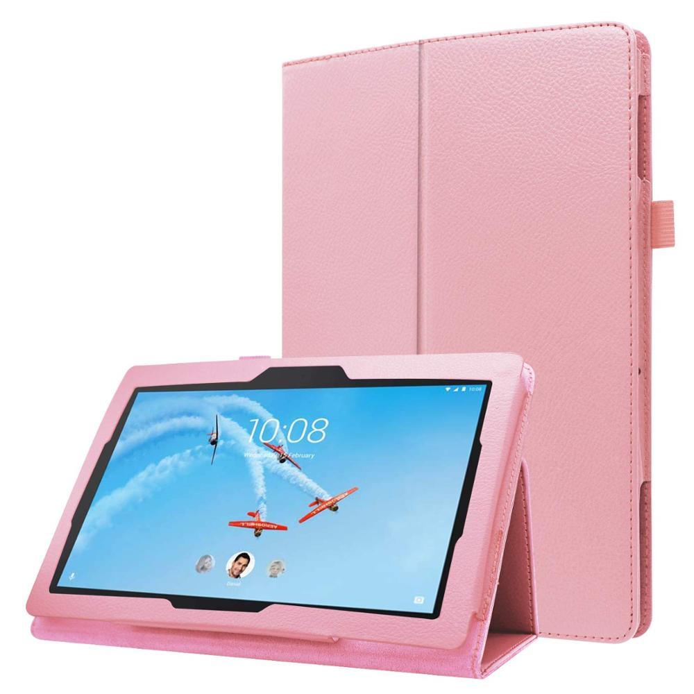Para Lenovo Tab M10 TB-X605F funda PU plegable Folio funda magnética Tab M10 M 10X605 X605f Tablet funda protectora piel funda