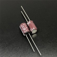10pcs 100 미크로포맷 50V NCC KY 시리즈 8x11.5mm 낮은 ESR 50V100uF 알루미늄 전해 콘덴서